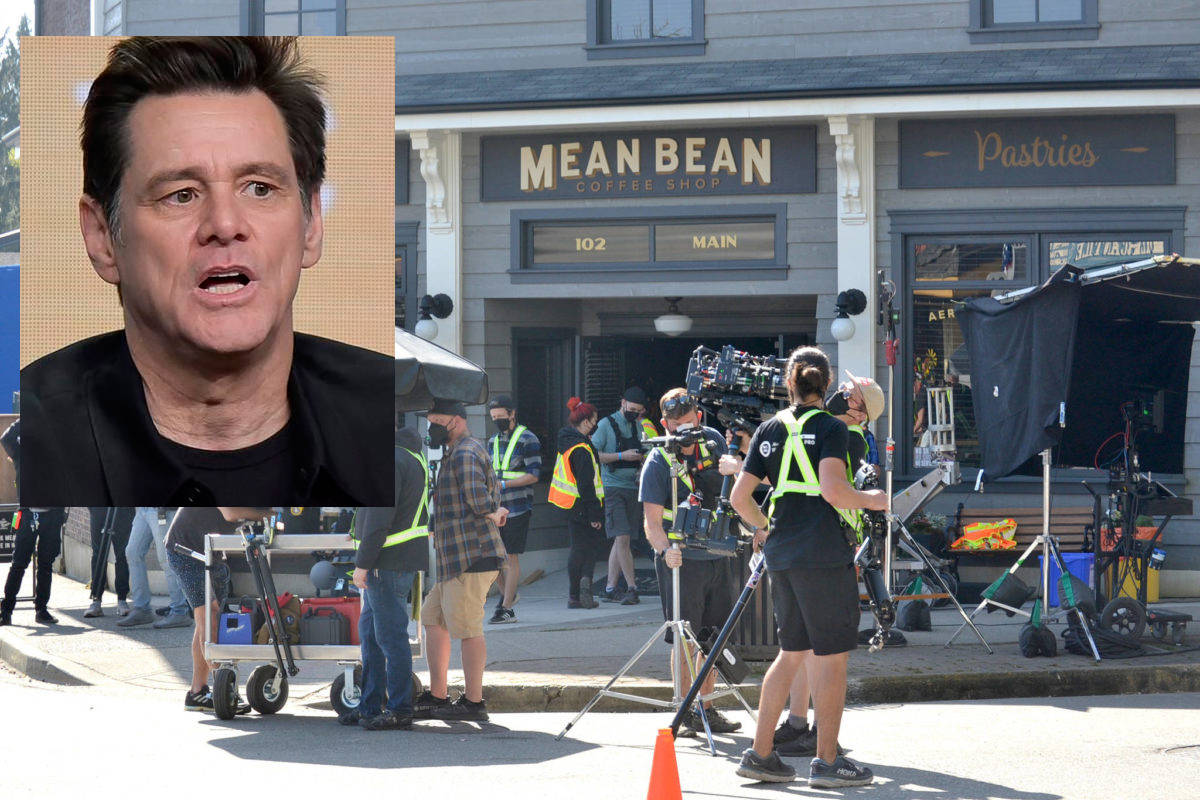 A temporary facade was built in Fort Langley for the Sonic 2 movie that shot in April. Star Jim Carrey reportedly wrapped up the production by giving away a new SUV to a member of the production crew (Langley Advance Times file)